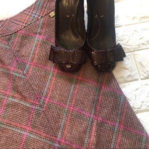 Ted Baker London wool tweed skirt Sz 1
